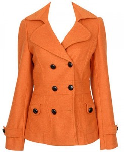 What a great deal for this poly/wool blend classic p-coat available at Forever 21