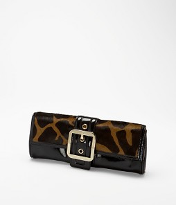 Oversize clutch in giraffe print haircalf  .Picture does not do it justice , a must have for fall! $118 at Ann Taylor .com