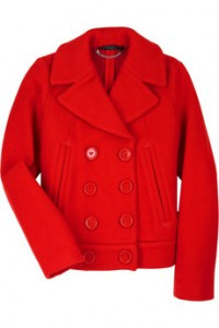 Marc by Marc Jacobs wool P-coat  eye poppin color a true investment piece available at Net-a-Porter