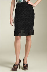 A ultra cool over-lay of lace makes this skirt by Leifsdottie a must have $278 at Nordstrom.com